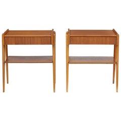 Pair of 1960s Teak Scandinavian Bedside Tables