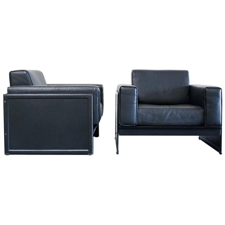Matteo Grassi Korium Leather Armchair or Chair Korium by Tito Agnoli For Sale