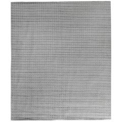 Silver High Low Contemporary Rug