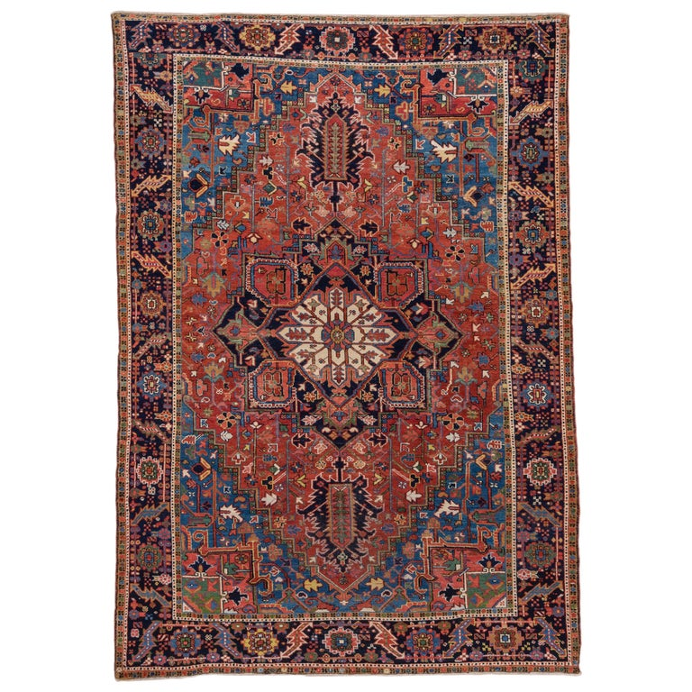 Antique Karaje Carpet Incredible Coloration For Sale At