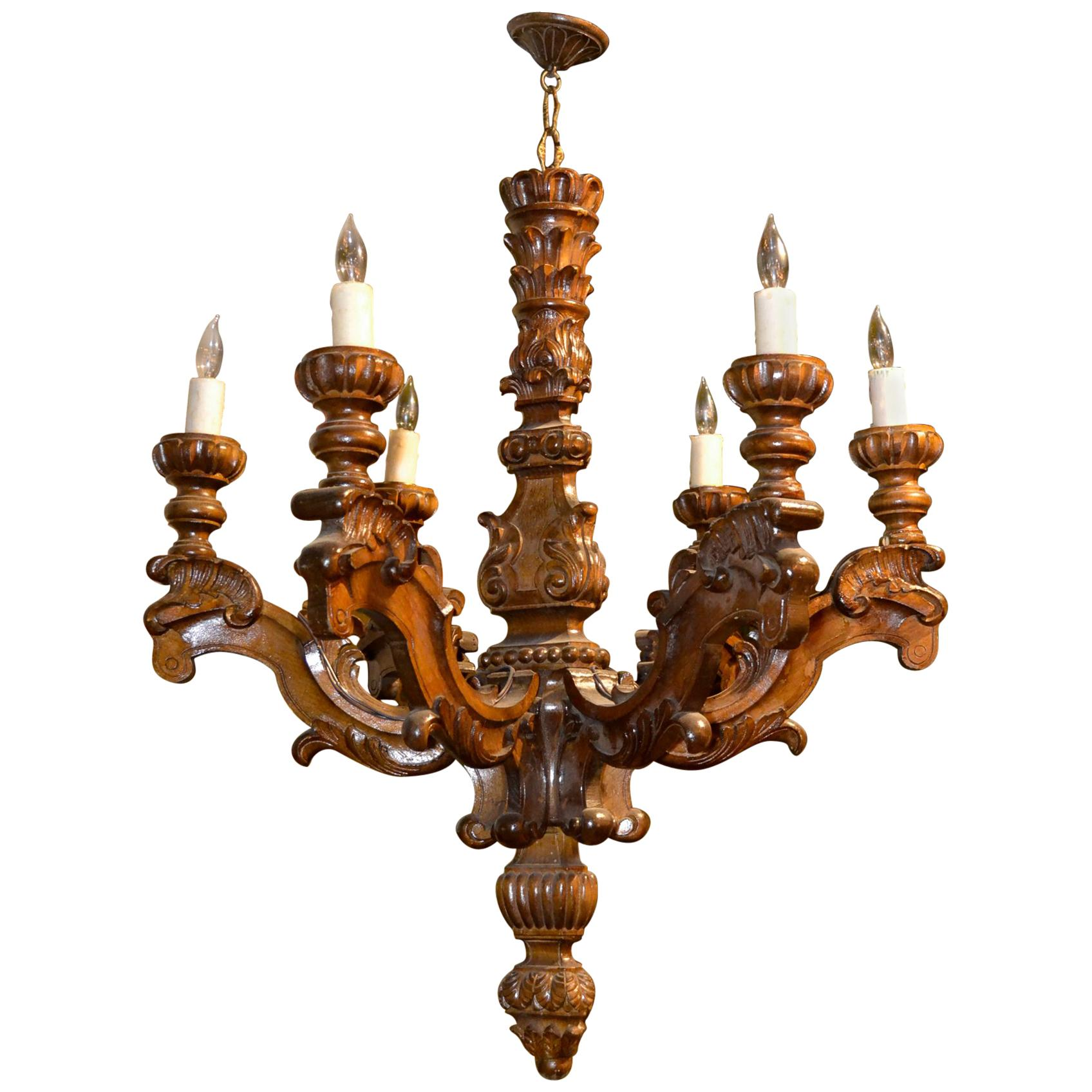 19th Century Italian Baroque Chandelier