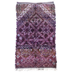Vintage Purple Beni M'Guild Rug, Berber Moroccan Rug with Bohemian Tribal Style