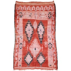 Vintage Berber Moroccan Rug with Bohemian Tribal Style