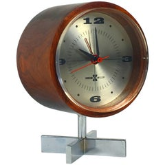 Rosewood Desk Clock by Howard Miller