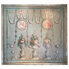 Pair of 18th Century Very Large Oil on Canvas Panels framed Wall mount Art LA CA