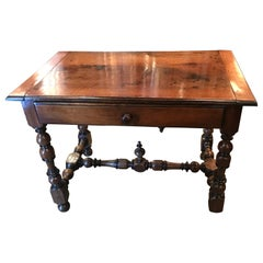 18th Century French Provencal Walnut Writing Table