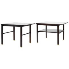 Set of 2 Cantilever End Tables by Dunbar