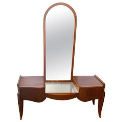 French Art Deco Dressing Table, Vanity with Secret Drawers