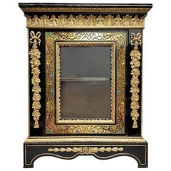 Napoleon III Cabinet in Boulle Marquetry, France, 19th Century