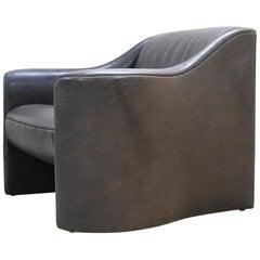 Matteo Grassi Esquire Neck Leather Armchair by Luigi Massoni & Giorgio Cazzaniga