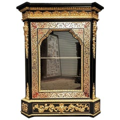 Napoleon III Rare Bookcase Cupboard Cabinet in Boulle Marquetry, France