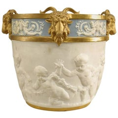 19th Century French Louis XVI Style Sèvres Porcelain Jardiniere