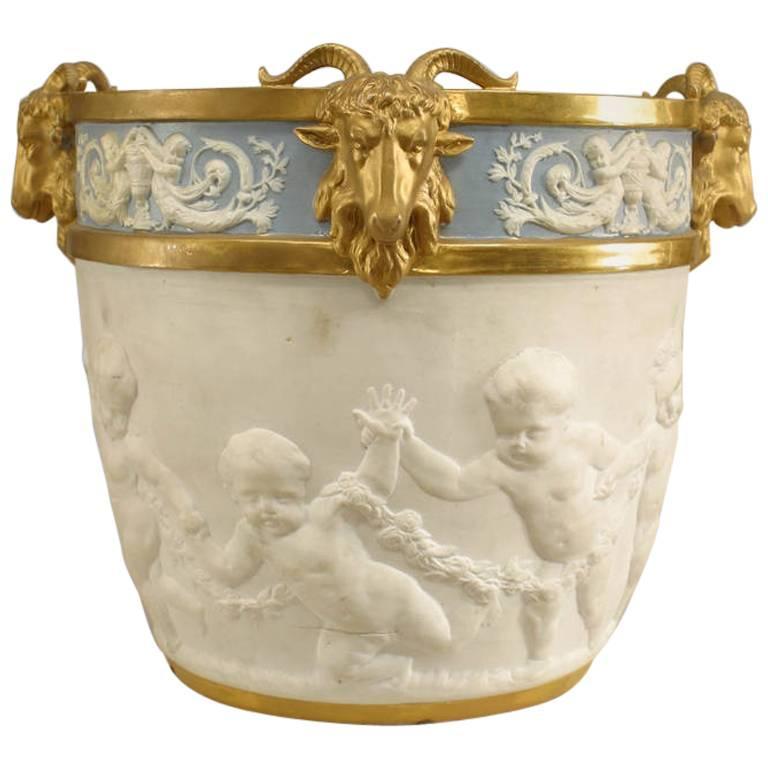19th Century French Louis XVI Style Sèvres Porcelain Jardiniere