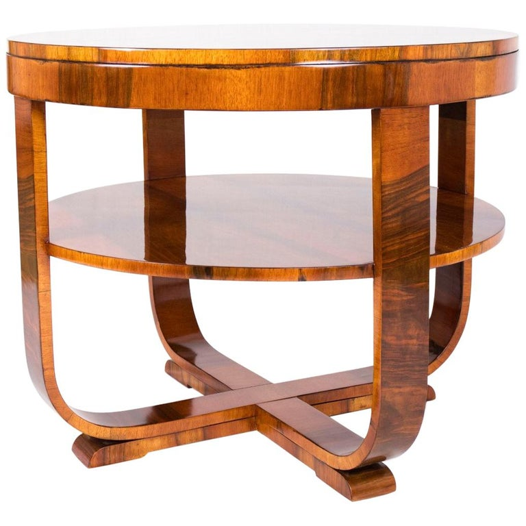 Art Deco Walnut Coffee Table For Sale At 1stdibs
