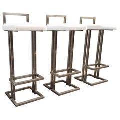 Maison Jansen Set aus drei Barhockern
