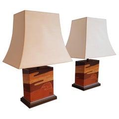 Ein Paar Jean Claude Mahey Tischlampen