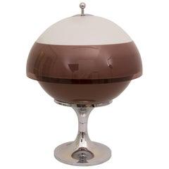 Midcentury Huge Perspex and Chrome Saturn Globe Lamp