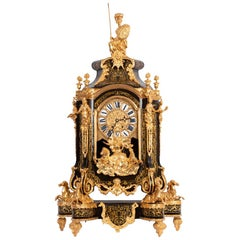 "Regence Style Cartel in ""Boulle"" Marquetry and Gilt Bronze, 19th Century"