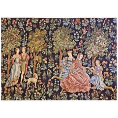 20th Century Large French Handmade Tapestry in Excellent Condition