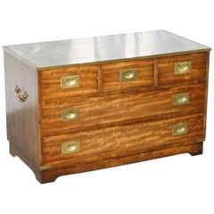 Bevan Funnel Reprodux Campaign Chest of Drawers Leather Top TV Stand