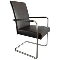 Walter Knoll Black Leather Armchairs, Line Jason, Austria, 1997