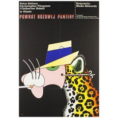 Return of the Pink Panther Original Polish Film Poster, Edward Lutczyn, 1977