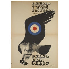 """Where Eagles Dare"" Original Polish Film Poster, Maciej Zbikowski, 1972"