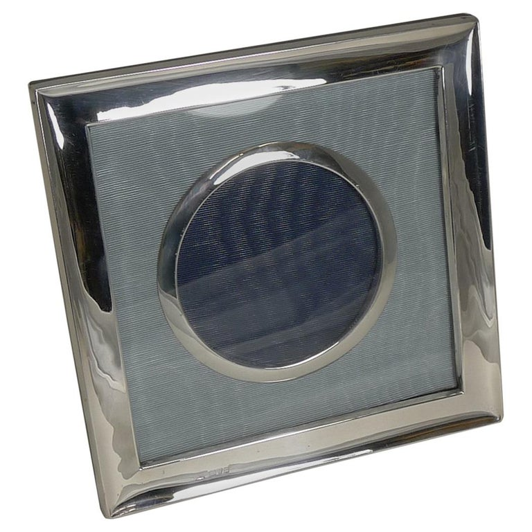Antique English Sterling Silver Photograph Frame, Chester, 1903 For Sale