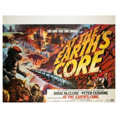 """At The Earth's Core"" UK Film Poster, Tom Chantrell, 1976"
