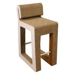 20th Century Plastic, Metal and Cardboard Italian Design Chair, 1980