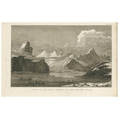 Antique Print of Willems Channel by Cook, 1803