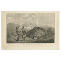 Antique Print of Chukchi People by Cook, 1803