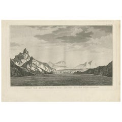 Antique Print of South Georgia by Cook, 1803