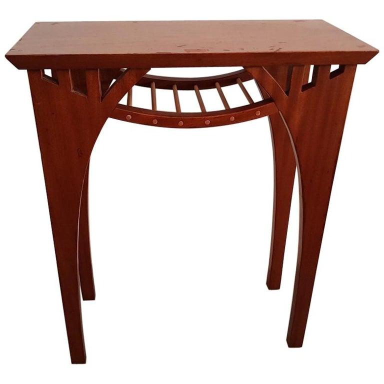 20th Century Vintage Design Teak Wood Side Table For Sale