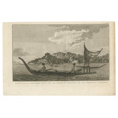 Antique Print of Resolution Bay by Cook, 1803
