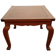 20th Century Colonial Style Teak Wood Coffee Table with Webbing