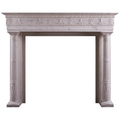 Period Regency Fireplace in Statuary White Marble