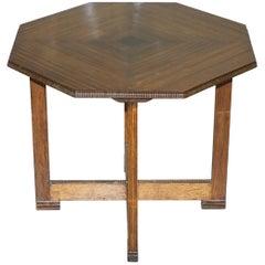 Art Deco Teak Small Hexagonal Dining Table