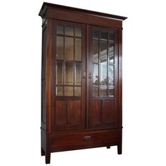 Antique and Solid Mahogany Dutch Arts & Crafts Bookcase, Gebroeders Monsieur