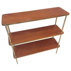 20th Century, Gilted Brass and Rosewood Shelf, 1950s
