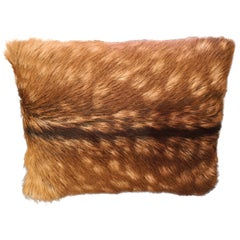 Black Forest Austrian Pair of Red Deer Fur Cushions Sofina Boutique Kitzbühel