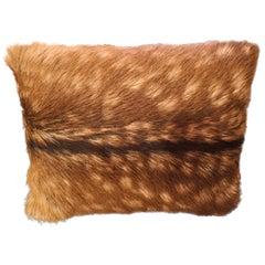 Black Forest Austrian Pair of Red Deer Fur Cushions Sofina Boutique Kitzbühel