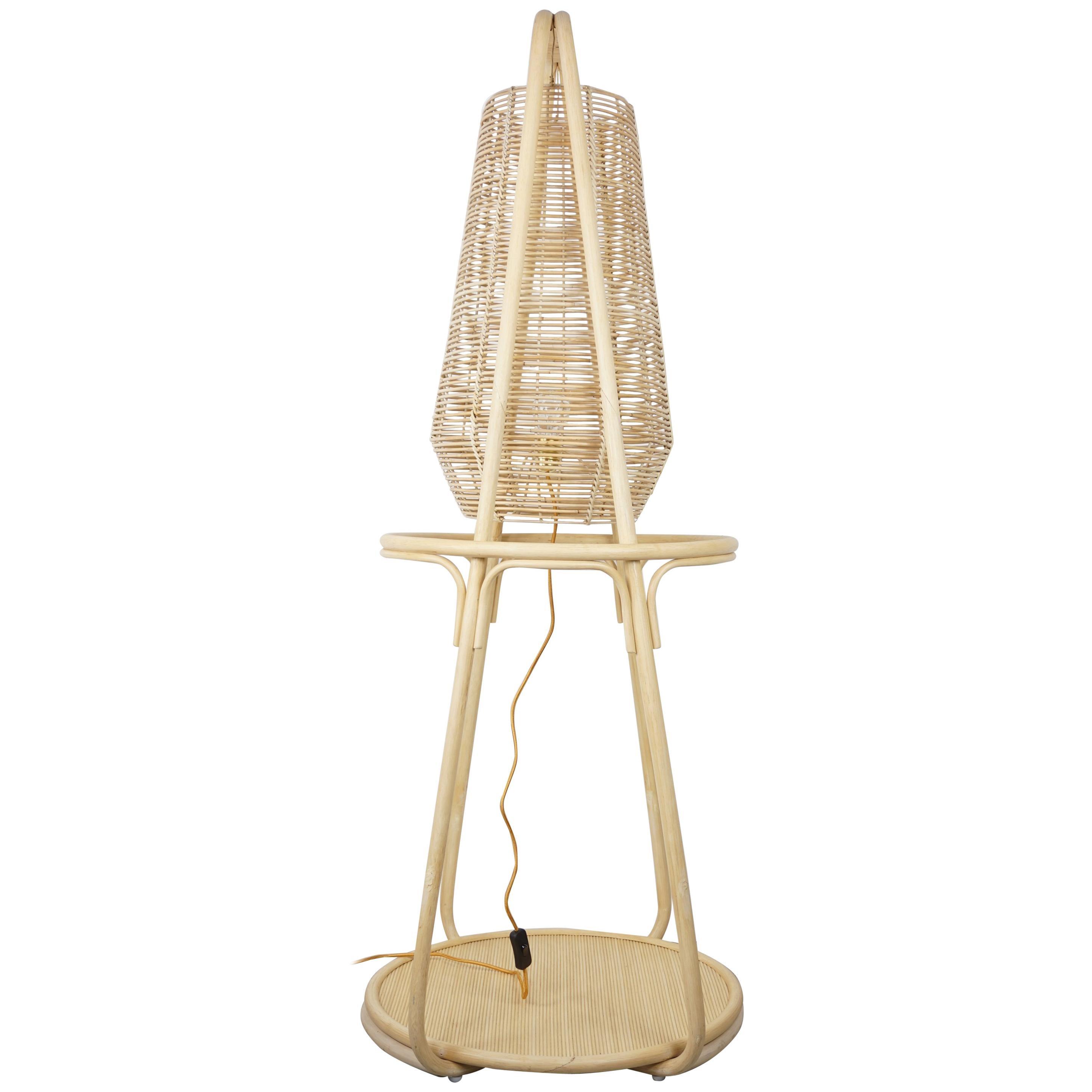 French Design Rattan Floor Lamp