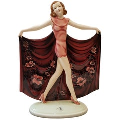 Goldscheider Lorenzl Josef Austria Art Deco Dancer Ceramic, 1930s