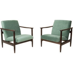 Pair of Green Apple Armchairs, Edmund Homa, GFM-142, 1960s, Poland