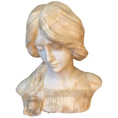 Early 20th Century, Austrian Marble Bust Signed J.Hillebrand