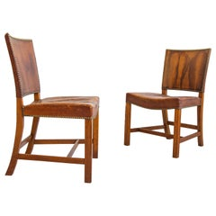 Pair of Kaare Klint Barcelona Model 3758 Chairs, Mid-Century, Scandinavian
