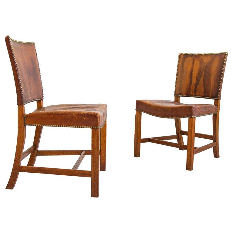 Kaare Klint Barcelona model 3758 chairs, 1927, offered by Neal Beckstedt