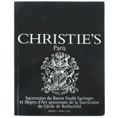 Christie's: Succession Baron Fould-Springer, Succession De Cecile De Rothschild