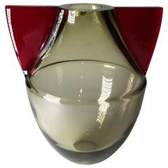 Flavio Barbini, Murano Glass Vase, Alfredo Barbini, 1985, Italy
